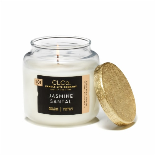 Candle-lite No. 01 Jasmine Santal Jar Candle - White Perspective: front