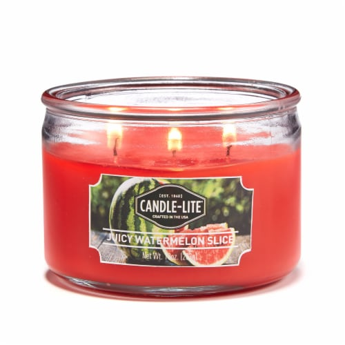 Candle-lite Juicy Watermelon Slice Jar Candle Perspective: front