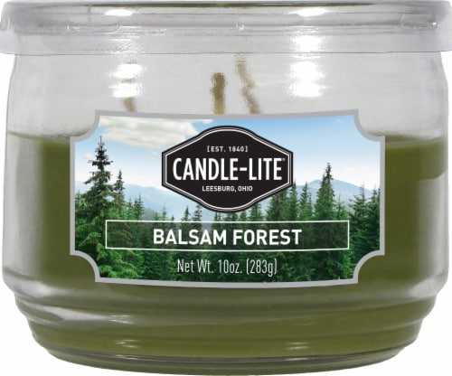 Candle-lite Everyday Essentials Balsam Forest 3-Wick Jar Candle - Green Perspective: front