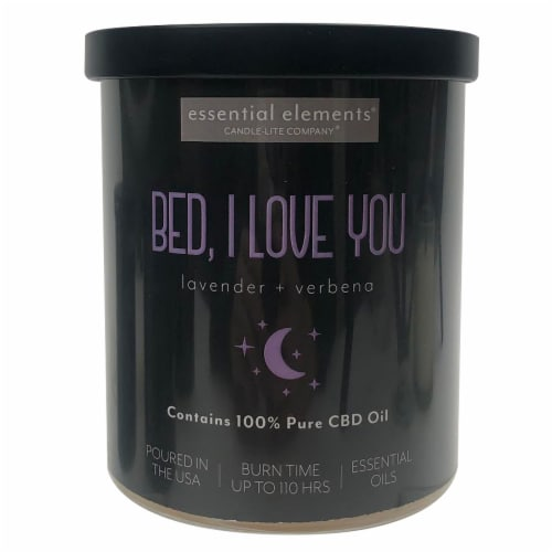 Candle-lite® CBD Bed I Love You Lavender + Verbena 2-Wick Candle Perspective: front