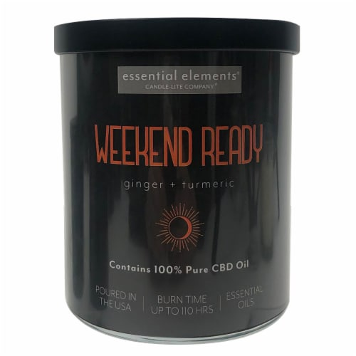 Candle-lite® CBD Weekend Ready Ginger + Turmeric 2-Wick Candle Perspective: front