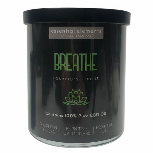 Candle-lite® CBD Breathe Rosemary + Mint 2-Wick Candle Perspective: front