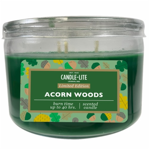 Candle-lite Acorn Woods Scented Candle Perspective: front