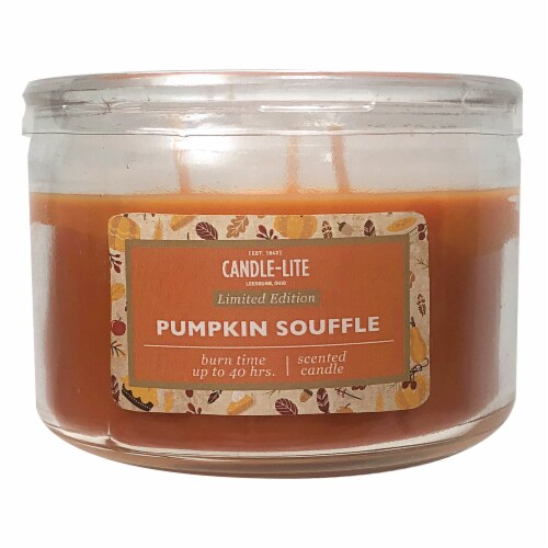 Candle-lite Pumpkin Souffle Scented Candle Perspective: front