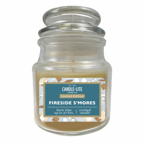 Candle-lite Fireside S'mores Scented Candle - Yellow Perspective: front