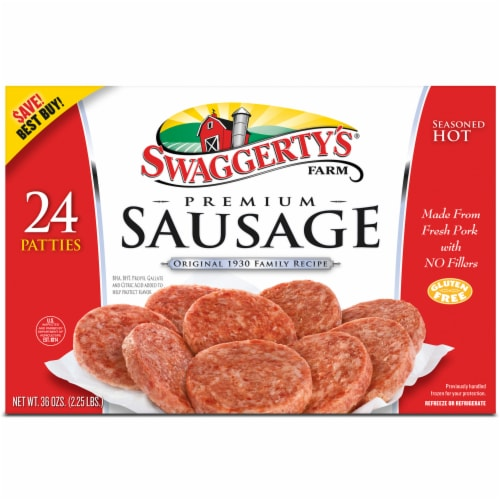 Swaggerty's Farm Hot Country Sausage Patties Perspective: front