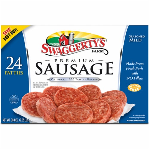 Swaggerty's Farm Premium Sausage Patties 24 Count Perspective: front