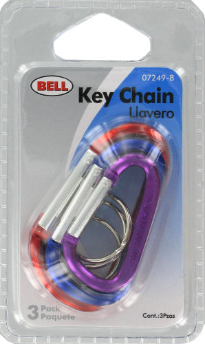 Cobb Bell Carabiner Key Chain Perspective: front