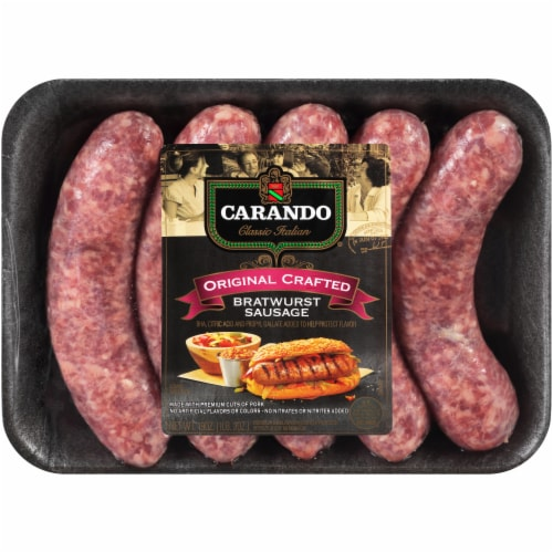Carando Original Crafted Bratwurst Sausage Perspective: front