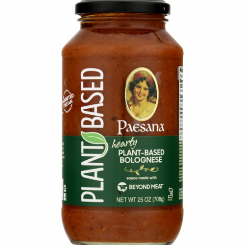 Paesana Hearty Plant-Based Bolognese Sauce Perspective: front