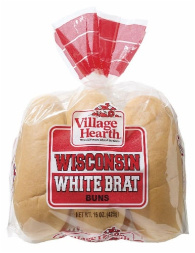 Village Hearth Wisconsin White Brat Buns Perspective: front