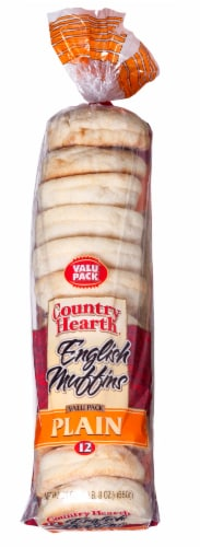Country Hearth Plain English Muffins Value Pack Perspective: front