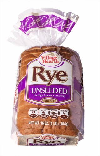 Village Hearth Unseeded Rye Bread Perspective: front