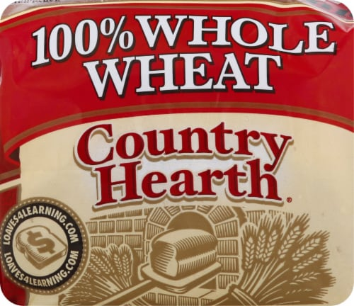 Country Hearth 100% Whole Wheat Bread Perspective: front