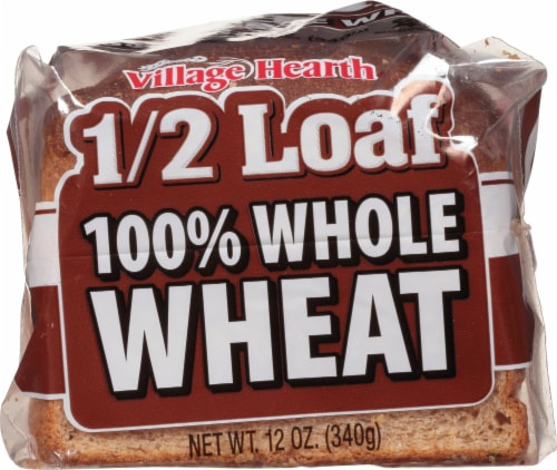 Village Hearth 100% Whole Wheat Half Loaf Perspective: front