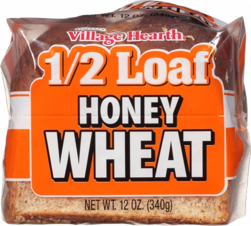 Village Hearth Honey Wheat Half Loaf Perspective: front