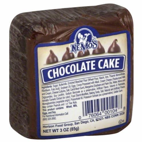 Nemo's Chocolate Cake Perspective: front