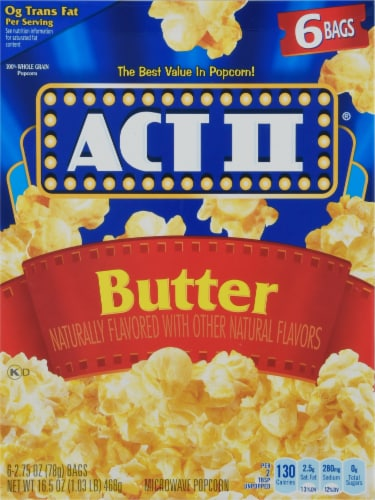 Act II Butter Microwave Popcorn Perspective: front