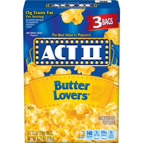 Act II Butter Lovers Popcorn Perspective: front
