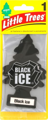 Little Trees Black Ice Air Freshener - Black Perspective: front
