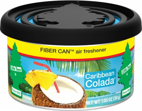 Little Trees Caribbean Colada Fiber Can Air Freshener Perspective: front