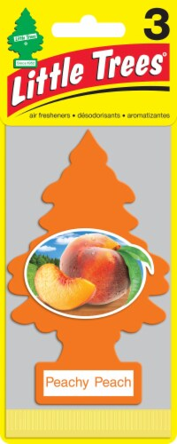 Little Trees Peachy Peach Car Air Fresheners Perspective: front