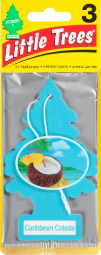 Little Trees Caribbean Colada Car Air Freshener - Blue Perspective: front