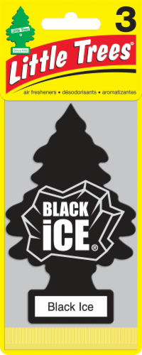 Little Trees Black Ice Air Freshener Pack - Black Perspective: front