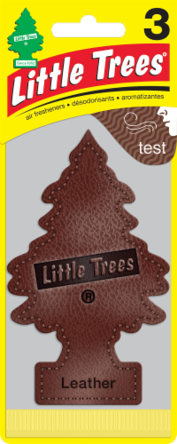 Little Trees Leather Car Air Fresheners Perspective: front