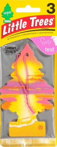 Little Trees Sunset Beach Scent Car Air Fresheners Perspective: front