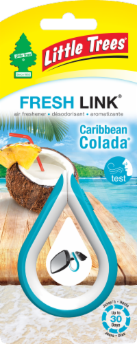 Little Trees Caribbean Colada Air Freshener Perspective: front