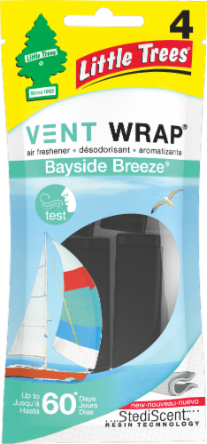 Little Trees Vent Wrap Bayside Breeze Car Freshener Perspective: front