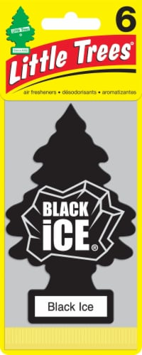 Little Trees Black Ice Car Fresheners Perspective: front