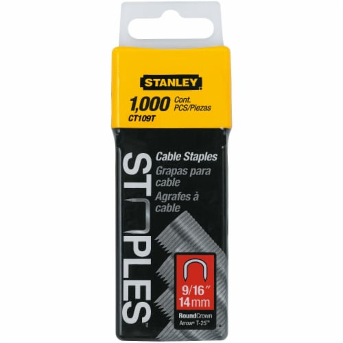 Stanley® 9/16-Inch Cable Staples Perspective: front