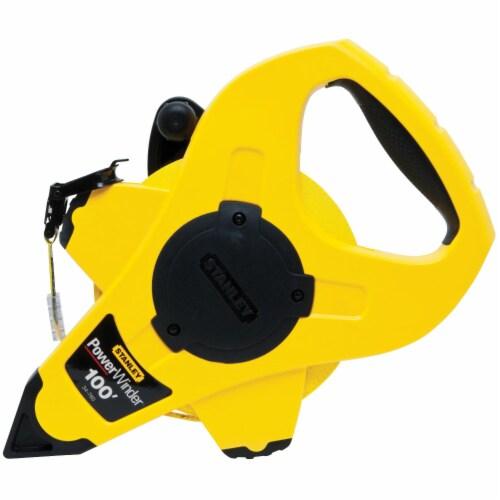 Stanley® PowerWinder® Fiberglass Long Tape - Yellow/Black Perspective: front