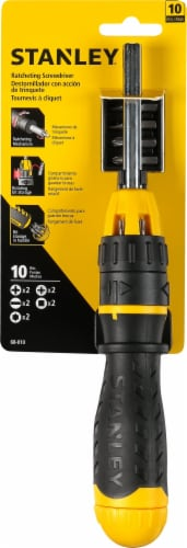 Stanley® Multi-Bit Ratcheting Screwdriver Perspective: front