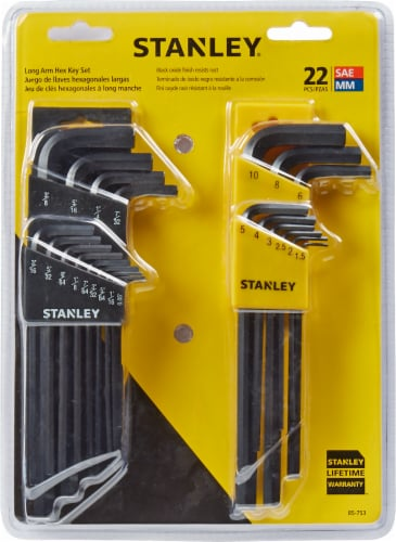 Stanley® Long Arm SAE and Metric Hex Key Set - Black Perspective: front