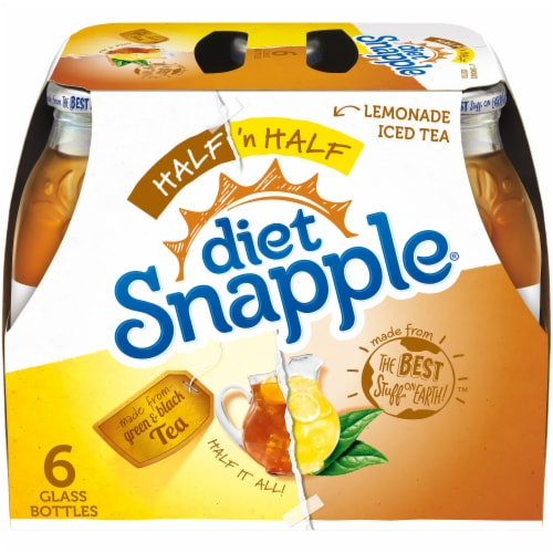 Diet Snapple Half 'N Half Iced Tea & Lemonade Drink Perspective: front