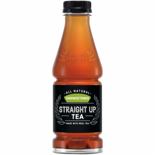 Straight Up Tea All Natural Unsweetened Black Tea Perspective: front