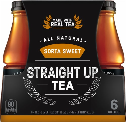 Straight Up Tea All Natural Sorta Sweet Black Tea Perspective: front