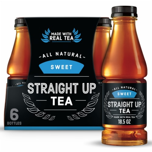 Straight Up Tea All Natural Sweet Black Tea Perspective: front