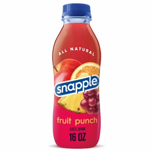 Snapple Fruit Punch Juice Drink Perspective: front
