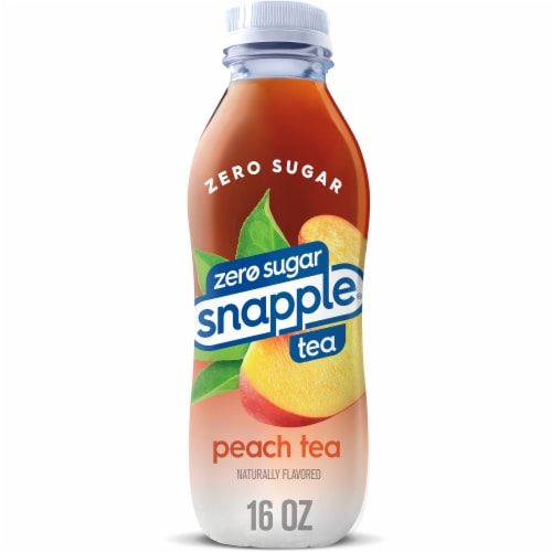 Diet Snapple Peach Iced Tea Drink Perspective: front