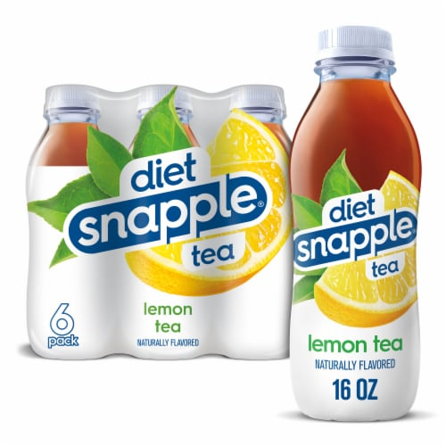 Diet Snapple Lemon Tea 6 Count Perspective: front