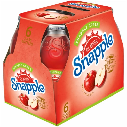 Snapple Apple Juice Drinks Perspective: front