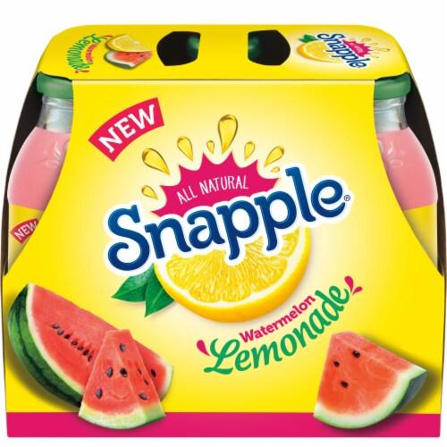 Snapple Watermelon Lemonade 6 Count Perspective: front