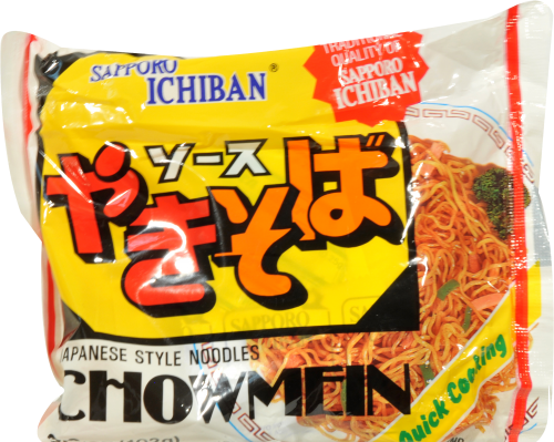 Sapporo Ichiban Instant Chow Mein Perspective: front