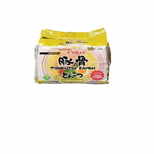 Sapporo Ramen Ichi Tonkotsu Noodles 5 Pack Perspective: front