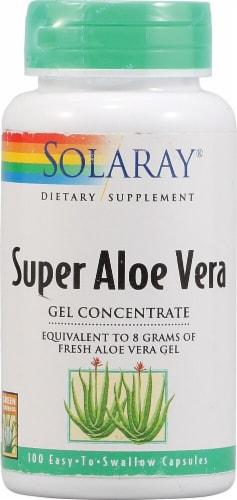 Solaray Super Aloe Vera Gel Concentrate Capsules Perspective: front