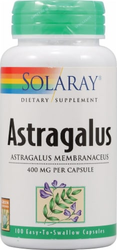 Solaray Astragalus Capsules 400mg Perspective: front